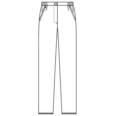 フォーク ナースパンツ レディスストレートパンツ 6006EW-1 ホワイト L (直送品)