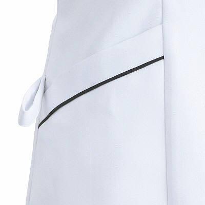 フォーク ナースワンピース 3015EW-5 ホワイトXグレー L (直送品)