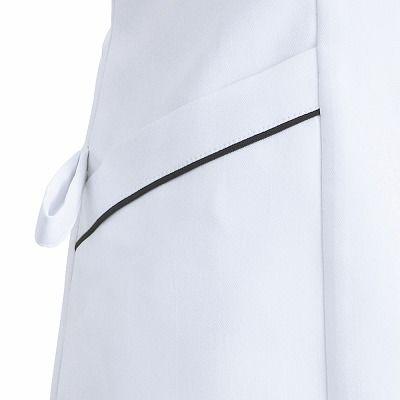 フォーク ナースワンピース 3015EW-7 ホワイトXネイビー L (直送品)