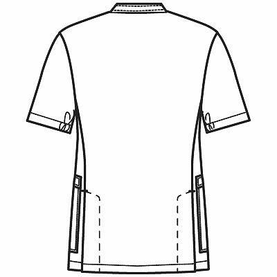 フォーク 男子医務衣 サックス L 1087-2 1枚 (直送品)