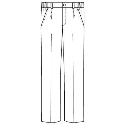 フォーク メンズパンツ ホワイト 4L 1915-1 1枚 (直送品)