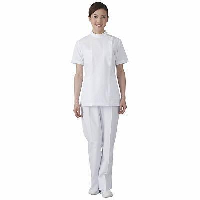 フォーク 女子医務衣 ホワイト LL 2089-1 1枚 (直送品)