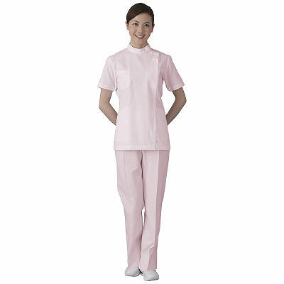 フォーク 女子医務衣 ピンク EL 2089-3 1枚 (直送品)