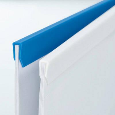 ビュートン スライディングレールホルダー(スリム)ブルー A4タテ PSR-A4SS-B10 1袋(10冊入)