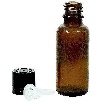 金鵄製作所 ガラス瓶 30mL 茶 1袋(10本入)
