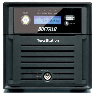 バッファロー 〈テラステーション〉 管理者・RAID機能搭載 NAS 2ドライブ搭載モデル 1TB TS-WX1.0TL/R1 (直送品)