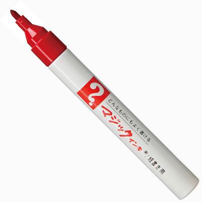 油性ペン マジックインキNo.500 細書き 赤 6本 寺西化学工業 M500-T2-6P