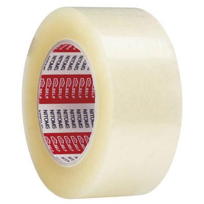 ニトムズ 透明梱包用テープ ロング 50mm×100m J6060 1パック(3巻入)