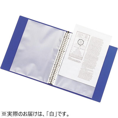 クリヤーブック 差し替え式 30穴 A4タテ 15ポケット 背幅2.5cm 10冊 白 G3801-0 リヒトラブ