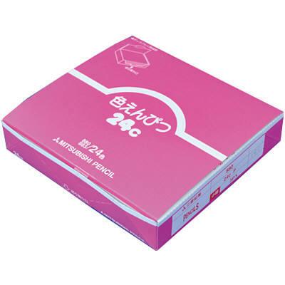 三菱鉛筆(uni) 色鉛筆880 24色 (スチール缶タイプ) K88024CP 1箱(3セット入) (取寄品)