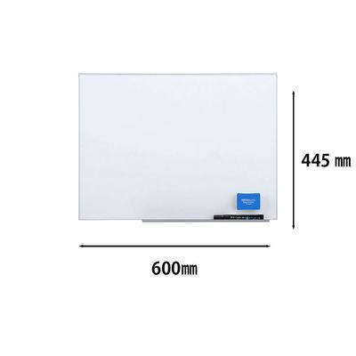日学 アルミ枠ライトフレームホワイトボード 無地 600×445mm LT-14