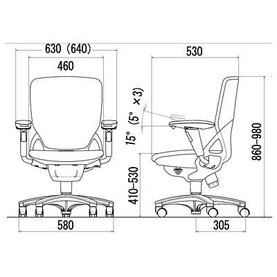 イトーキ プレーゴ オフィスチェア ハイバック アジャスタブル 肘付 ディープブルー KZ-437CG-T2N4 1脚 (直送品)