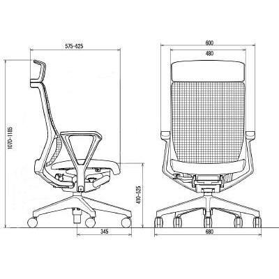 イトーキ エピオス オフィスチェア エクストラハイバックループ 肘付 ネイビー KE-456GBEZGB2B2 1脚 (直送品)
