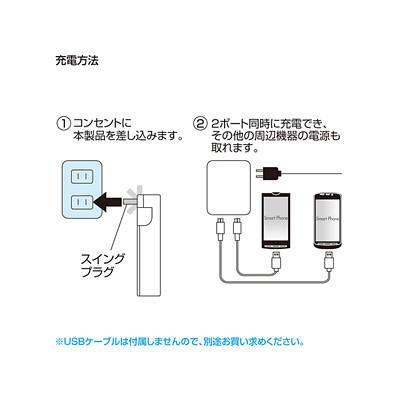 サンワサプライUSB充電タップ型アダプタ