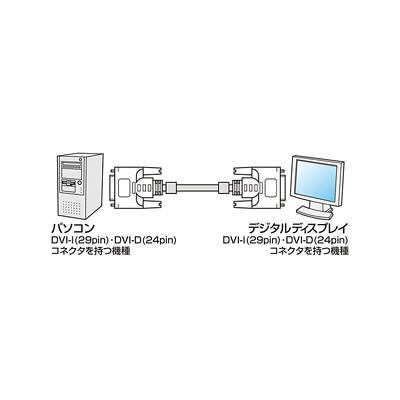 サンワサプライ DVI-Dデュアル 3m