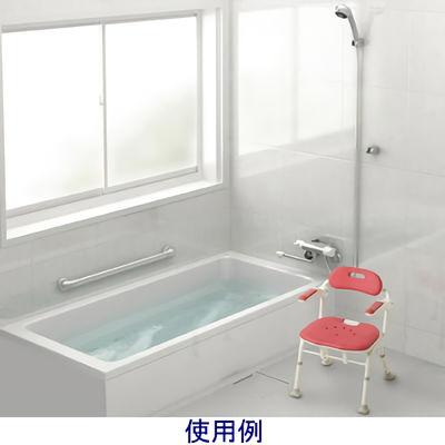 アロン化成 折りたたみシャワーベンチISフィット レッド 536-105 (直送品)
