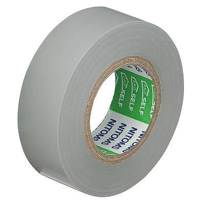ビニルテープS 灰 幅19mm×長さ10m J2576 1箱(10巻入) ニトムズ