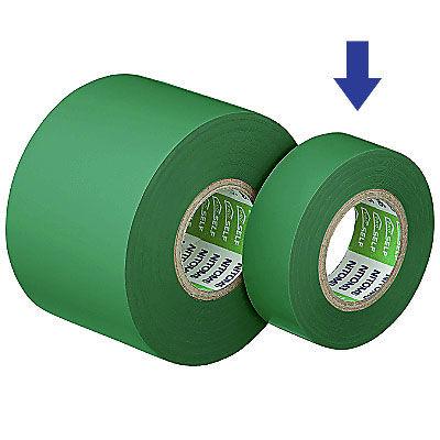 ビニルテープS19MM幅×長さ10M緑 J2573 1箱(10巻入) ニトムズ