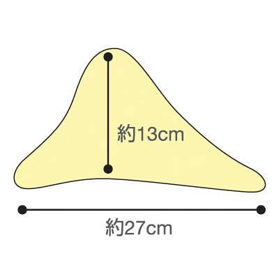 洗えるフィット三角柱クッションII パープル50cm 1312-50 日本エンゼル (直送品)