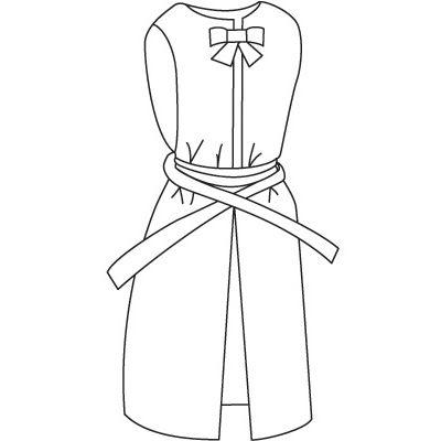 入浴介助エプロン(ひもタイプ) ピンク L 6013 日本エンゼル (直送品)