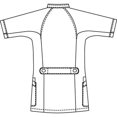 フォーク 1014CR-7-S 男子医務衣S ネイビー/ブルー 1着 (直送品)