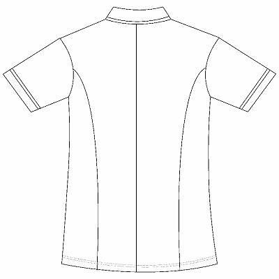 AITOZ(アイトス) スクエアネックチュニック(ナースジャケット) 医療白衣 半袖 ホワイト 5L 861365-001 (直送品)