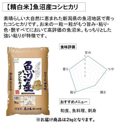 新米【精白米】魚沼産コシヒカリ 2kg