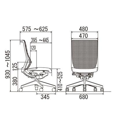 イトーキ エピオス オフィスチェア ハイバックメッシュ 肘無し ホワイトグレー KE-450GB-ZGC5C7 1脚 (直送品)