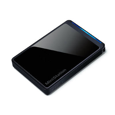 バッファロー ポータブルHDD&テレビ取付セット 1TB ブラック HD-PCT1TU2G/BV