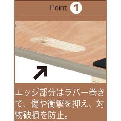 「現場のチカラ」 木製 平台車エッジ巻910×610 1台 アスクル