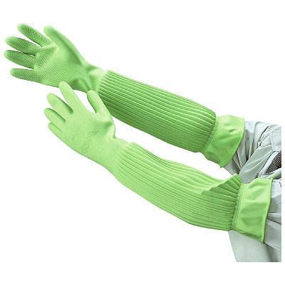 天然ゴム厚手手袋スーパーロングL 1セット(3双:1双×3)