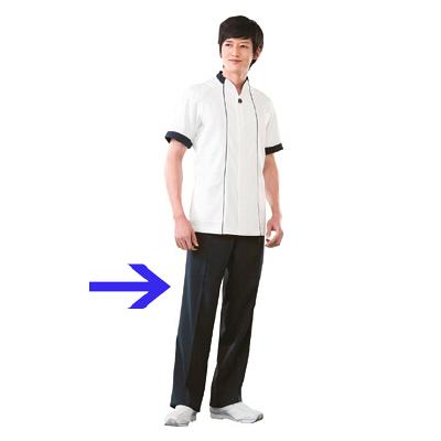 高浜ユニフォーム 男子 ワンタックパンツ DZ2207 ネイビー S (取寄品)