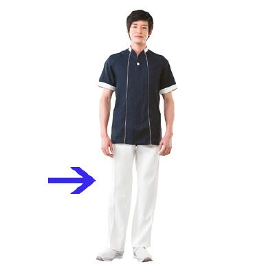 高浜ユニフォーム 男子 ワンタックパンツ DZ2201 オフホワイト LL (取寄品)