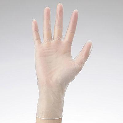 ファーストレイト PVCグローブPD M 粉付き(パウダーイン) プラスチック FR-922 1パック(100枚入) (使い捨て手袋)