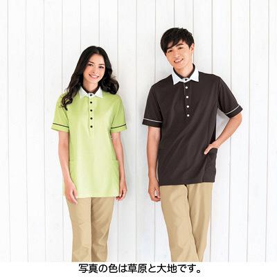 カーシーカシマ ポロシャツ 草原 L HM-2449c/4 L (取寄品)