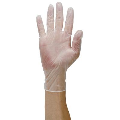 伊藤忠リーテイルリンク プラスチック手袋パウダーフリーライト M VC-230 1箱(100枚入) (使い捨て手袋)