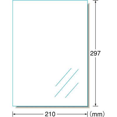 エーワン 屋外でも使えるサインラベルシール 31032 透明 ノーカット 透明光沢 1袋(10シート入)×3袋