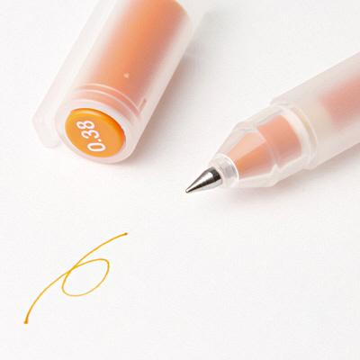 ゲルインキボールペン オレンジ