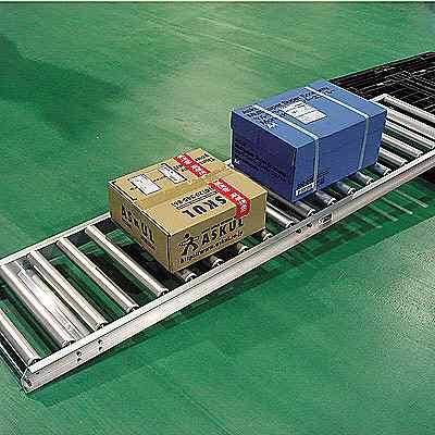 アルミローラーコンベア 幅365×長さ2000mm HAR315100×2000 ワイドループ (直送品)
