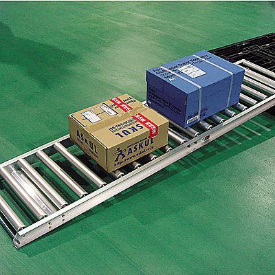 アルミローラーコンベア 幅450×長さ2000mm HAR400100×2000 ワイドループ (直送品)