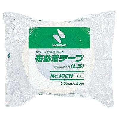カラー布テープ 50mm×25m巻 白 102N5-50 1セット(2巻入) ニチバン (直送品)