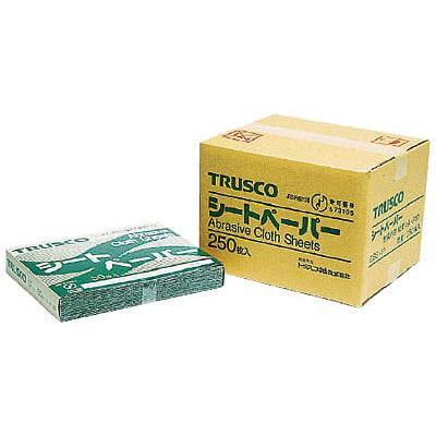 トラスコ中山 TRUSCO シートペーパー #100 GBS-100 1箱(50枚入) 布やすり 987-7584