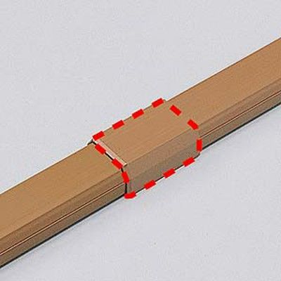 サンワサプライ ケーブルカバー(直線、ブラウン) CA-KK26BRJ 1個 (直送品)