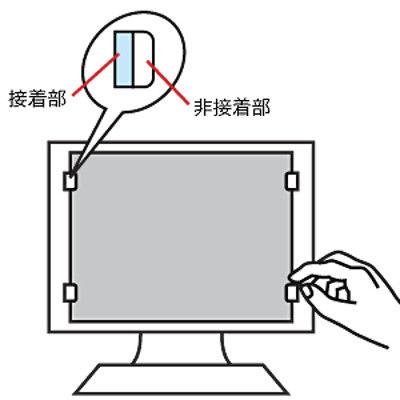 サンワサプライ 液晶パソコンフィルター CRT-ND70ST17 1個 (直送品)