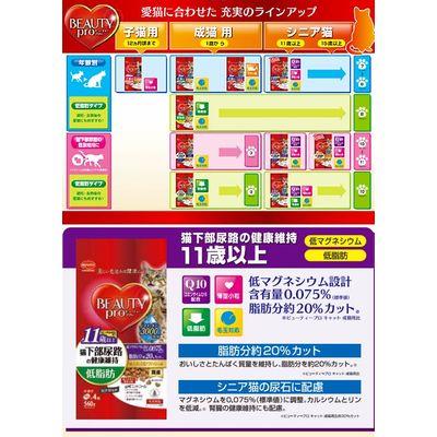 日本ペットフード 猫下部尿路の健康維持 15歳以上 560g(140g×4袋)国産 200507 1セット(12個入)