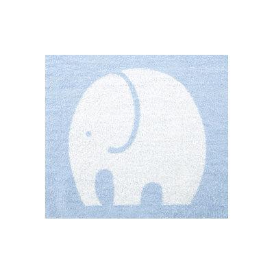 テンダイ ジャガードパイルケット 象柄(ブルー)
