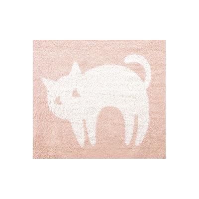 テンダイ ジャガードパイルケット 猫柄(ピンク)