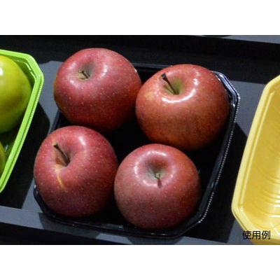パックスタイル 使い捨て 野菜 果物容器 PS BPフルーツ 4M ブラック 00486966 1包:600枚(100×6) (直送品)
