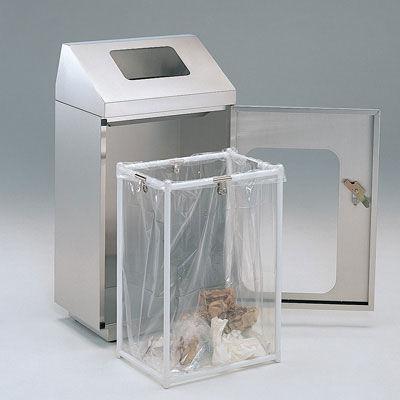 ぶんぶく リサイクルトラッシュ窓付一般ゴミ・ステンレス OSE-Z-37 (直送品)
