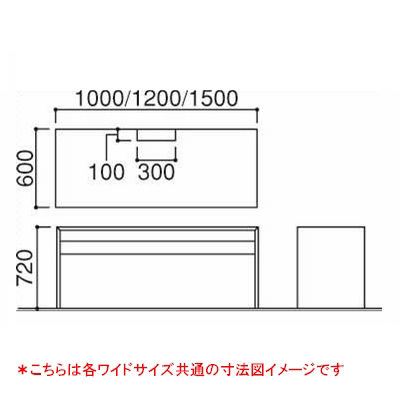 岡村製作所(オカムラ) ファルテ2 コアデスク1000 平机 引出し無し ダーク 幅1000×奥行600×高さ720mm 1台 (直送品)